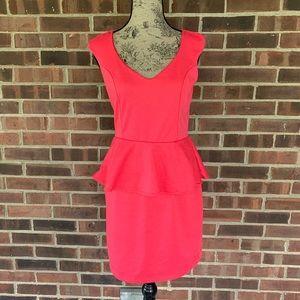 ⬇️$25 Bailey Blue pink peplum sleeveless dress